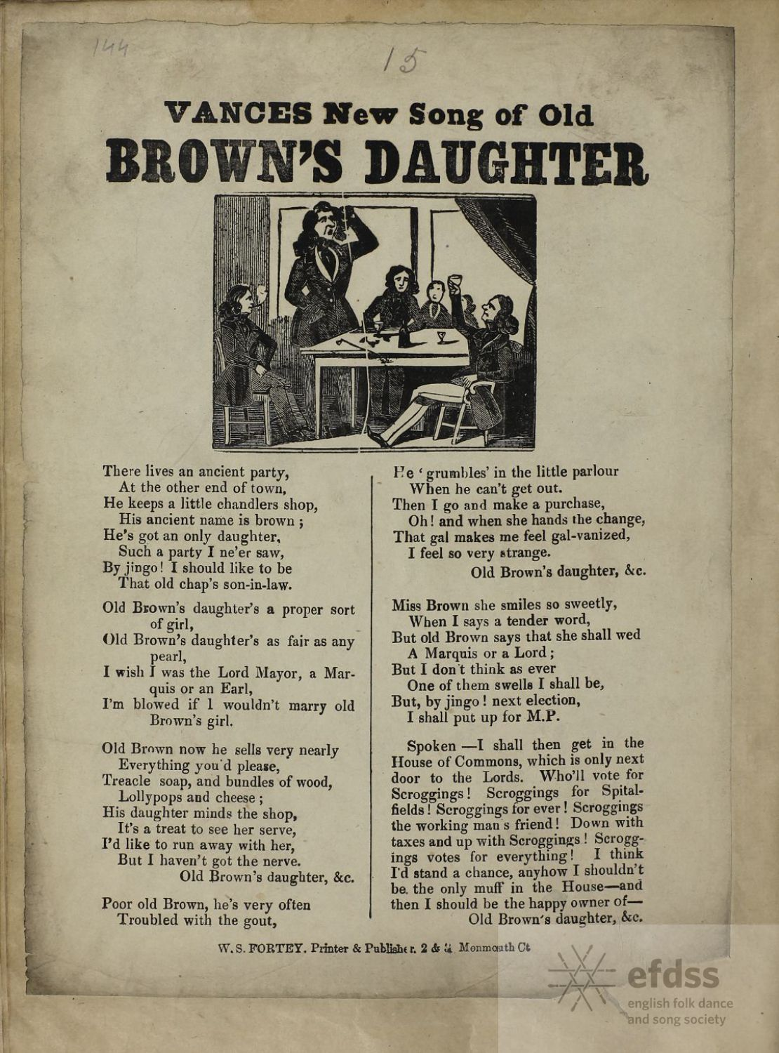 Vance's New Song Of Old Brown's Daughter - from the EFDSS Full English archive