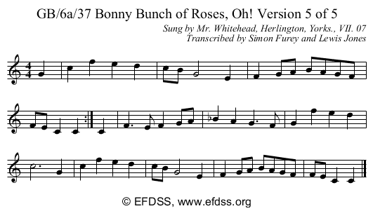 Stave transcription of image number 0 for GB/6a/34