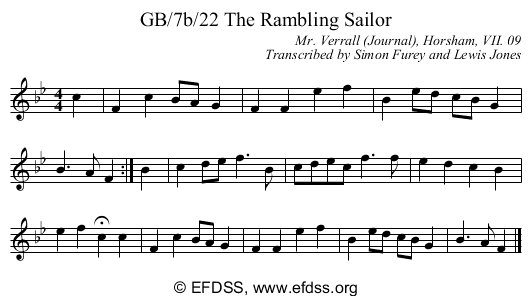 Stave transcription of image number 0 for GB/7b/22