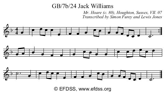 Stave transcription of image number 0 for GB/7b/24