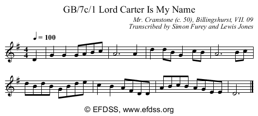 Stave transcription of image number 0 for GB/7c/1