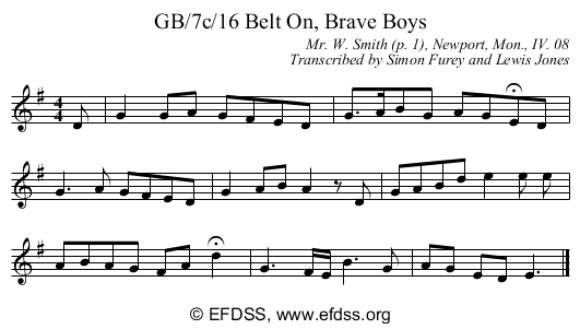Stave transcription of image number 0 for GB/7c/15A