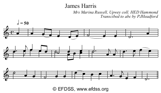 Stave transcription of image number 1 for HAM/3/20/11