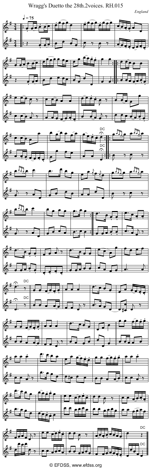 Stave transcription of image number 0 for 18473/p10