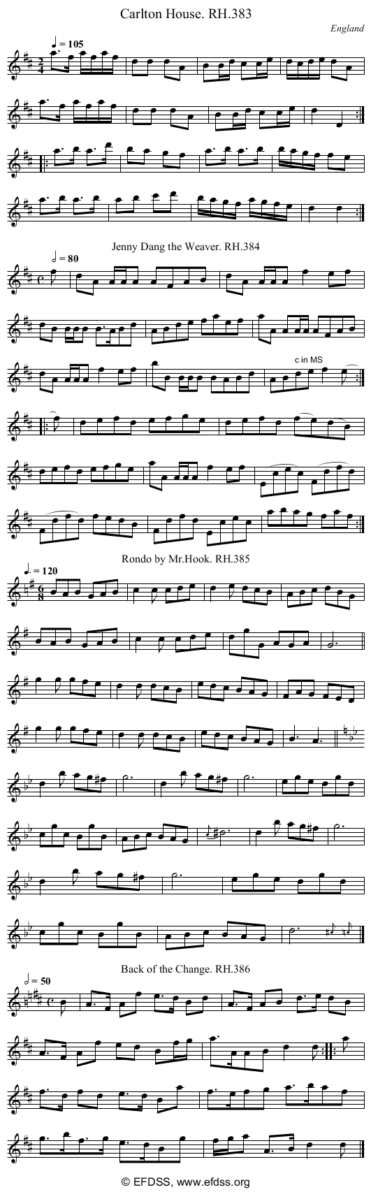 Stave transcription of image number 0 for 18473/p107