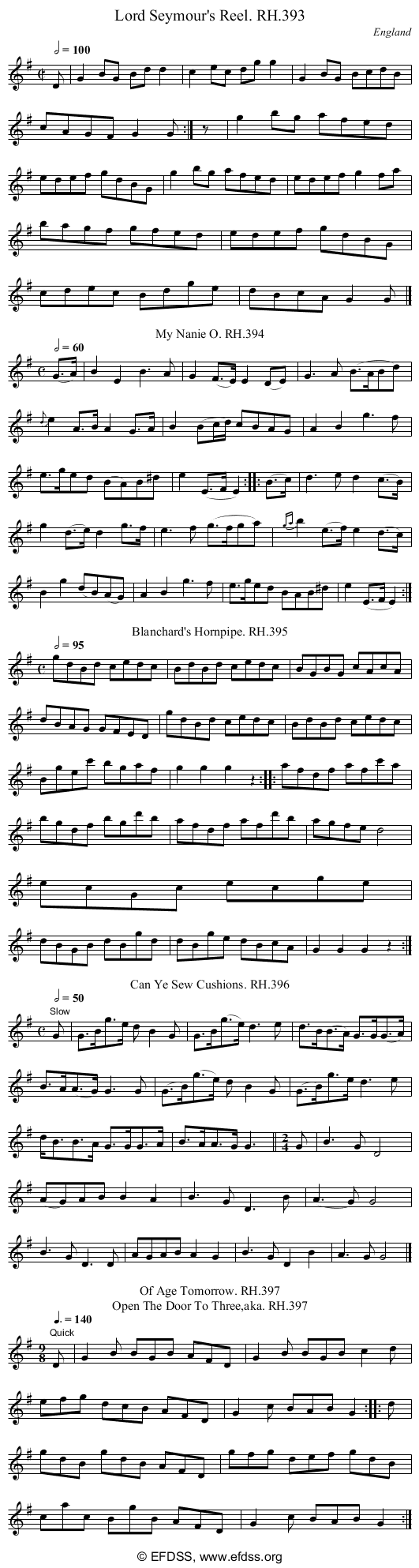 Stave transcription of image number 0 for 18473/p110