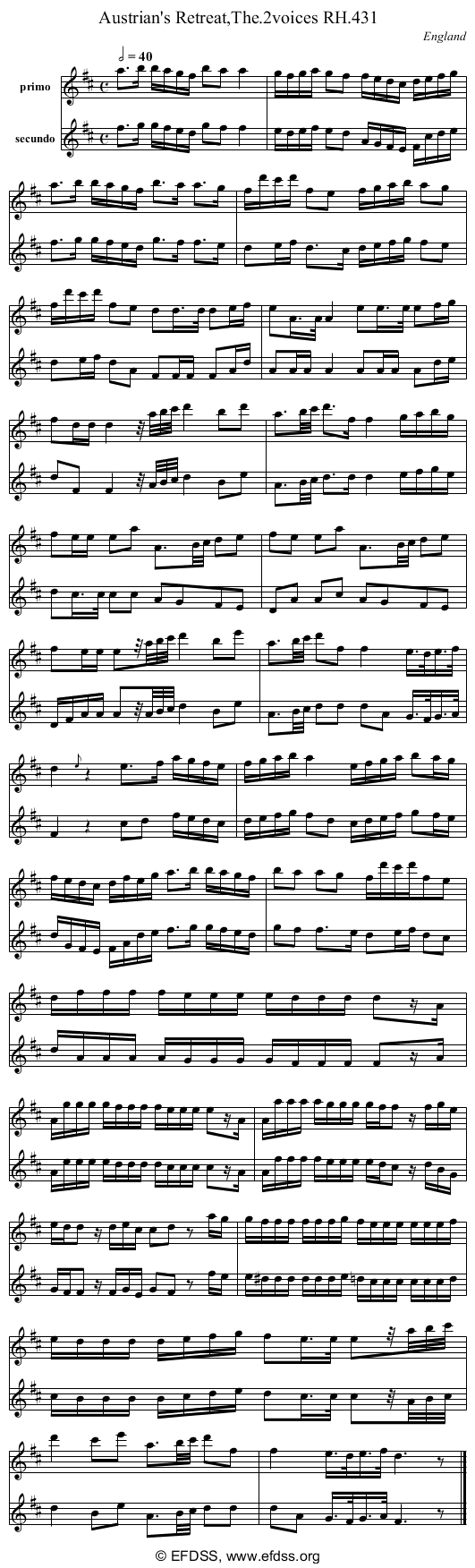 Stave transcription of image number 0 for 18473/p124