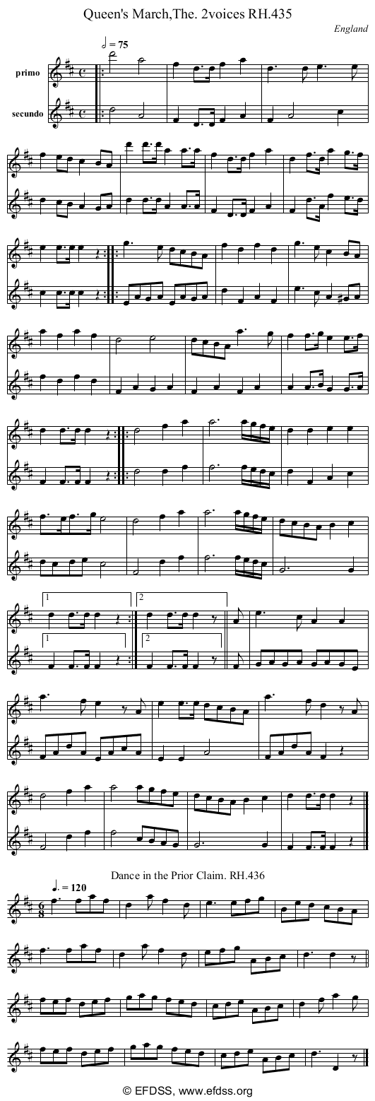 Stave transcription of image number 0 for 18473/p126