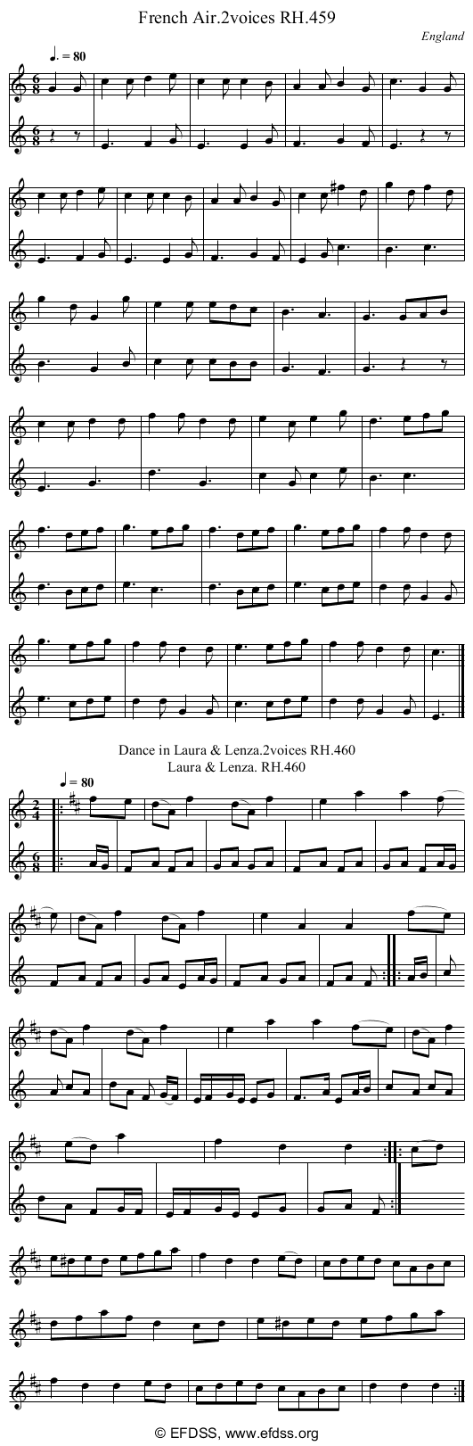 Stave transcription of image number 0 for 18473/p135