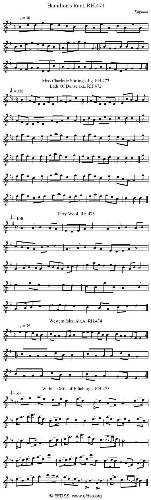 Stave transcription of image number 0 for 18473/p139