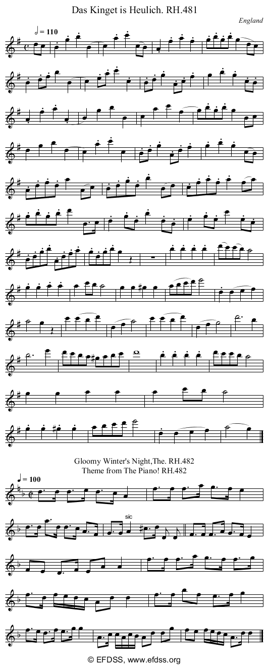 Stave transcription of image number 0 for 18473/p142