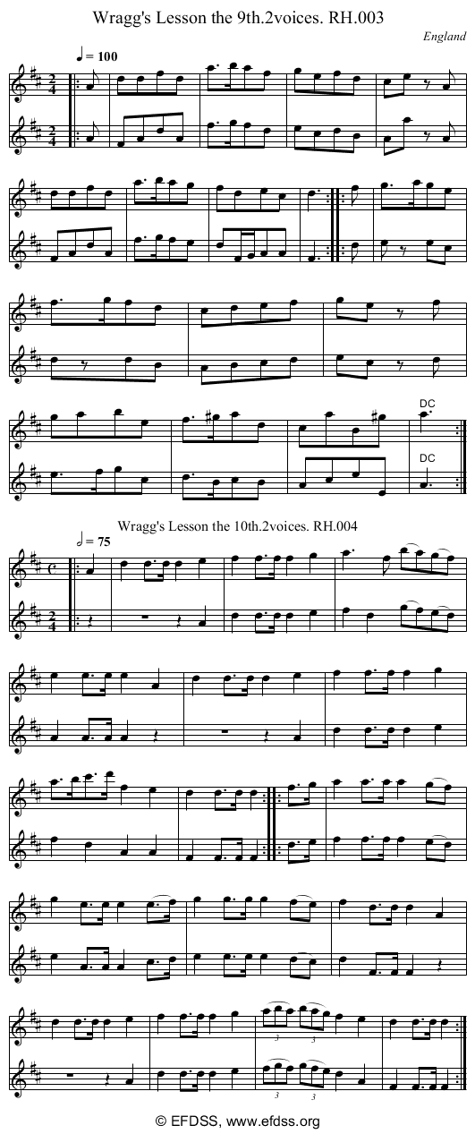 Stave transcription of image number 0 for 18473/p2