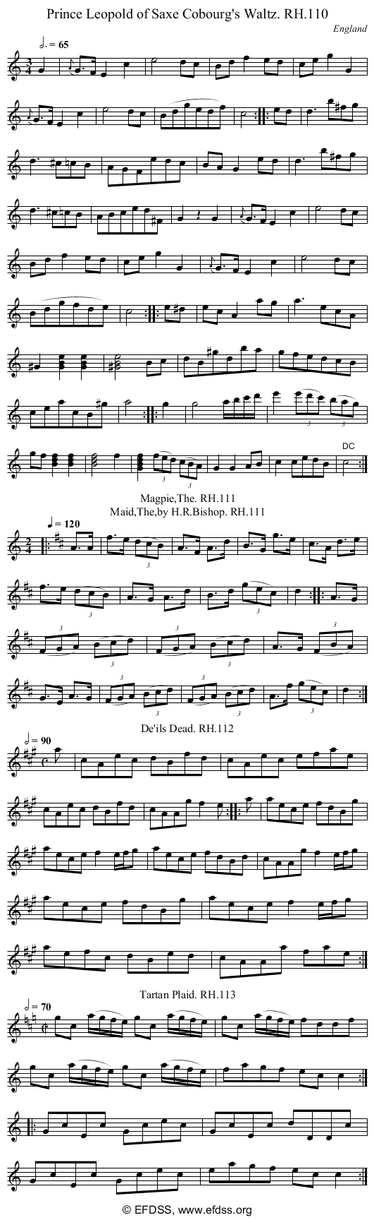 Stave transcription of image number 0 for 18473/p45
