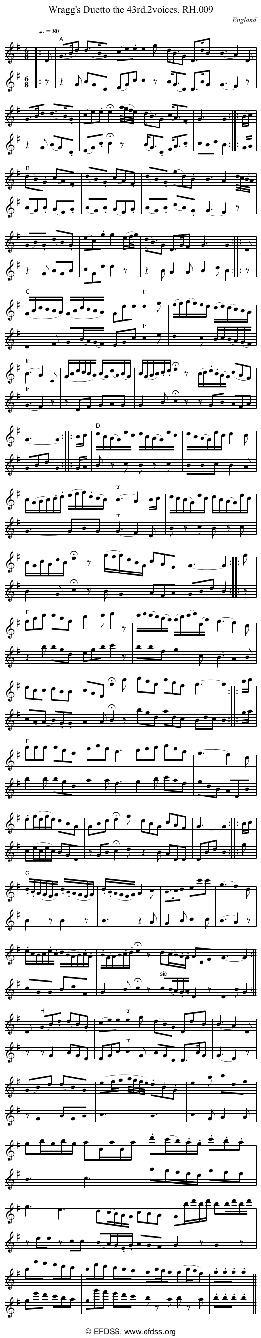 Stave transcription of image number 0 for 18473/p6