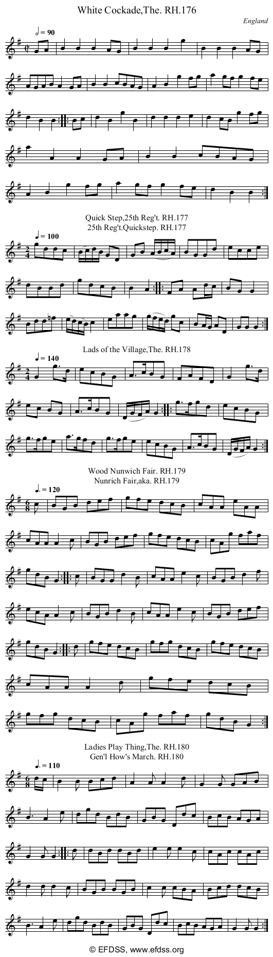 Stave transcription of image number 0 for 18473/p64