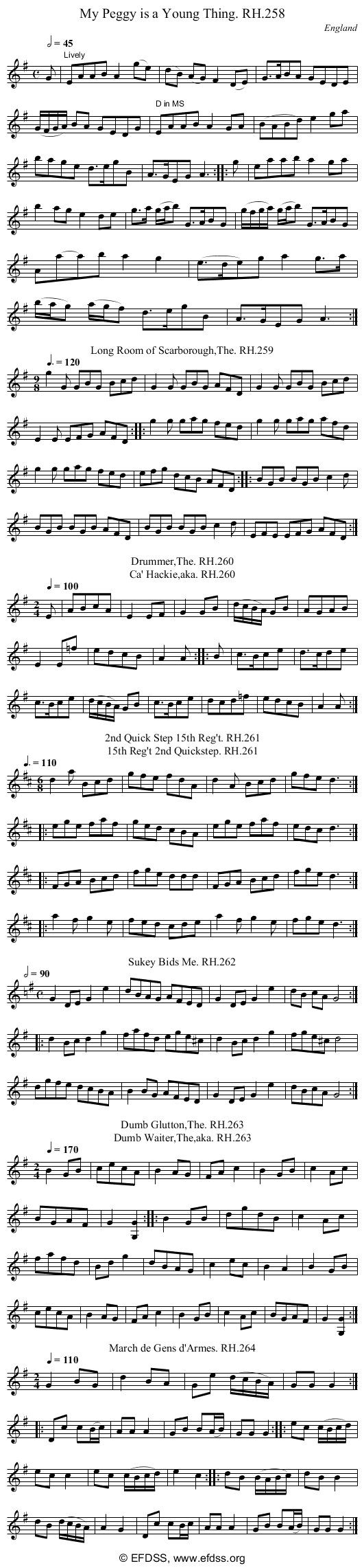 Stave transcription of image number 0 for 18473/p77