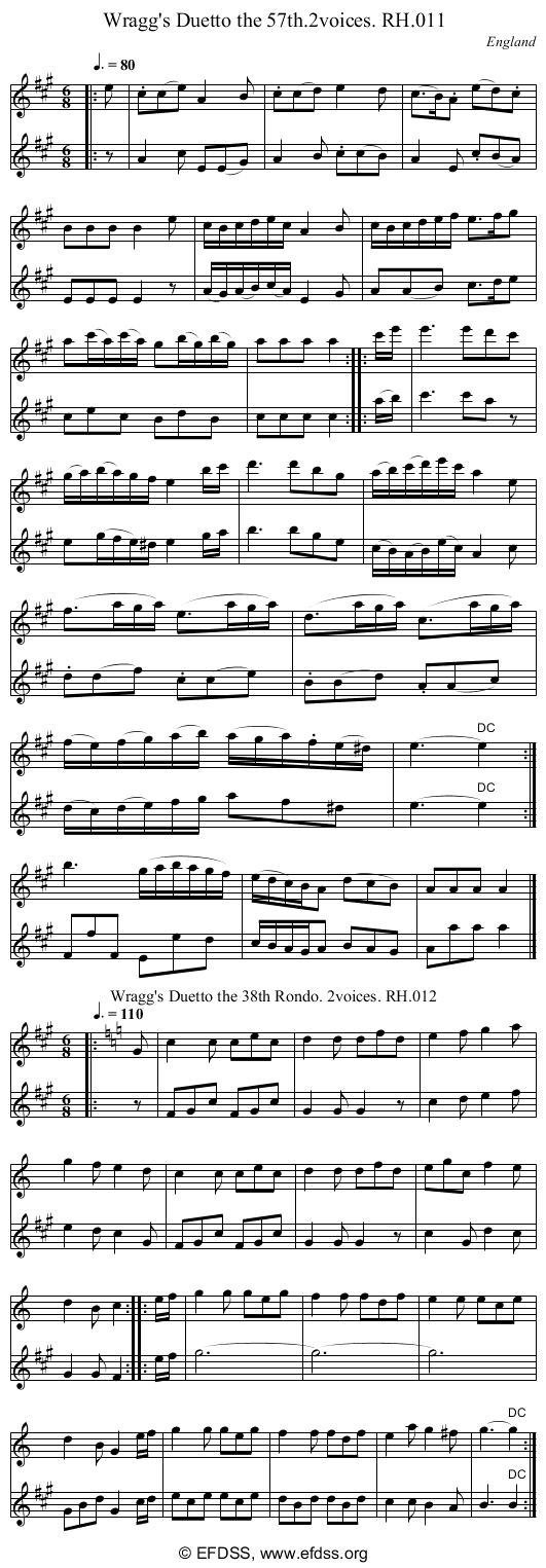 Stave transcription of image number 0 for 18473/p8