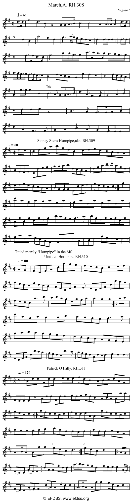 Stave transcription of image number 0 for 18473/p85