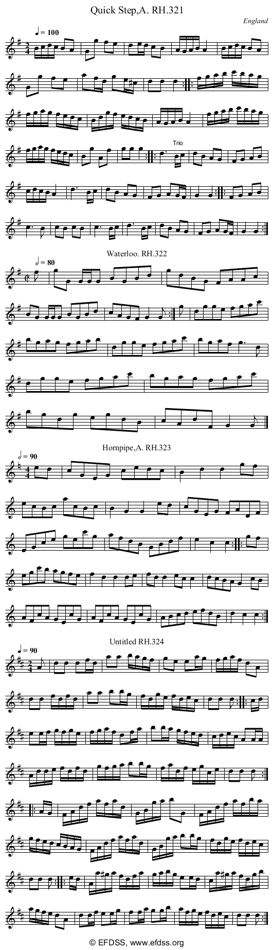 Stave transcription of image number 0 for 18473/p88