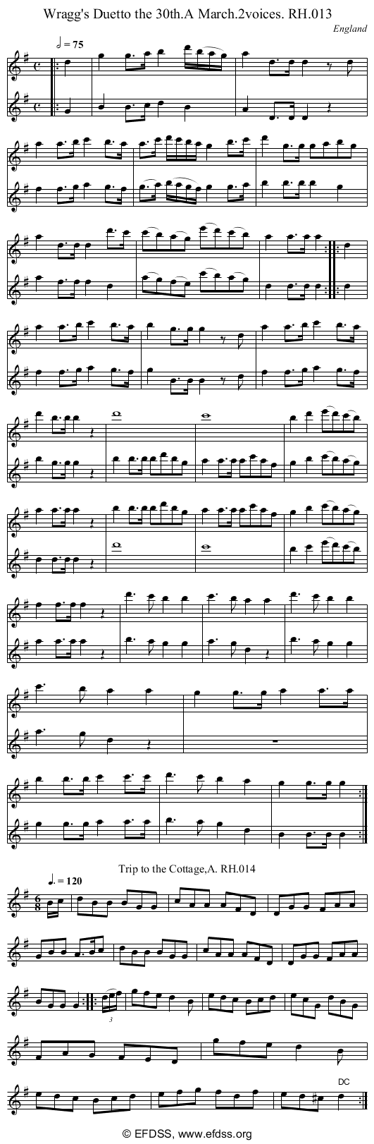 Stave transcription of image number 0 for 18473/p9