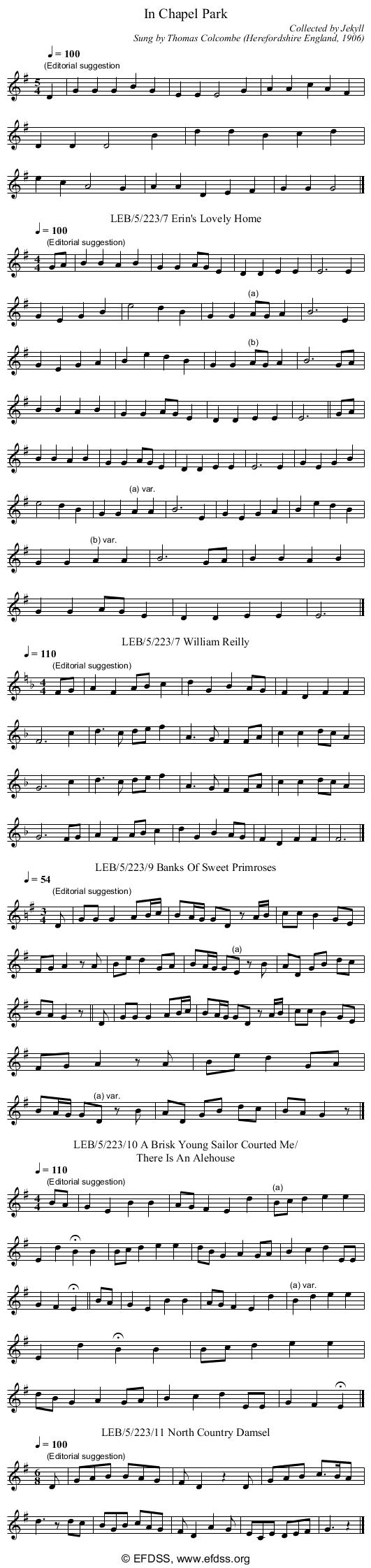 Stave transcription of image number 0 for LEB/5/223/11