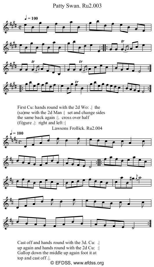 Stave transcription of image number 0 for 2249/p2