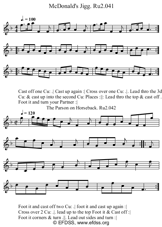 Stave transcription of image number 0 for 2249/p21