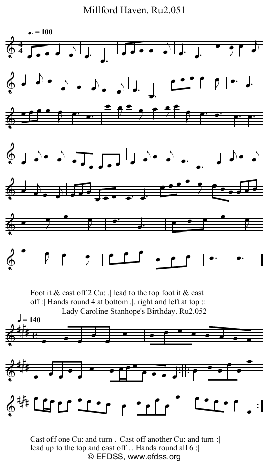 Stave transcription of image number 0 for 2249/p26