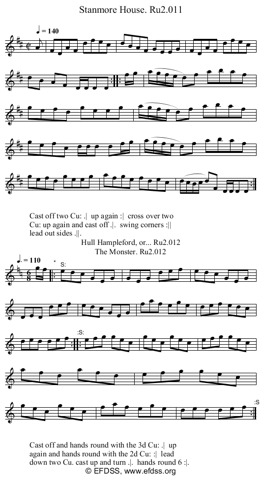 Stave transcription of image number 0 for 2249/p6