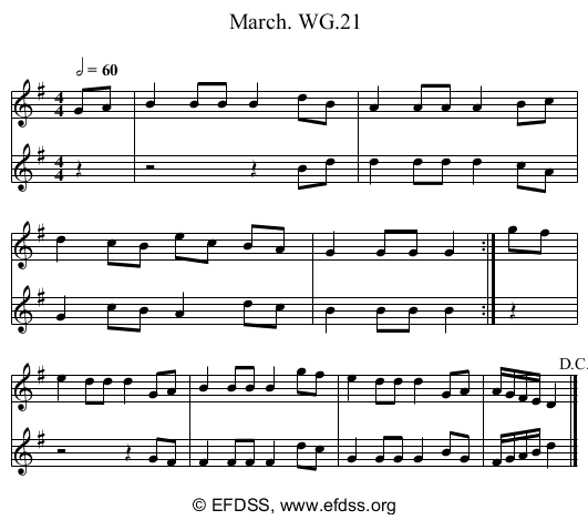 Stave transcription of image number 0 for 2222/p18