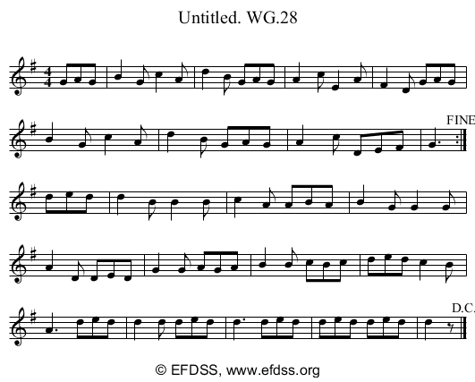 Stave transcription of image number 0 for 2222/p24