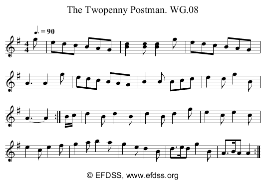 Stave transcription of image number 0 for 2222/p5