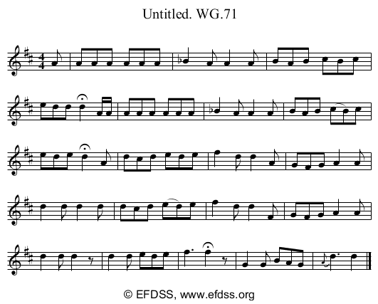 Stave transcription of image number 0 for 2222/p67
