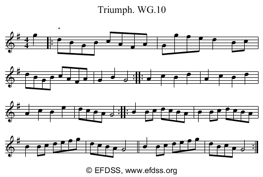 Stave transcription of image number 0 for 2222/p7
