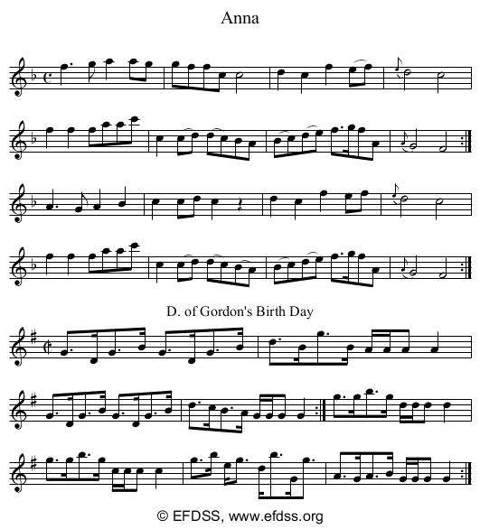 Stave transcription of image number 0 for 5234/p50
